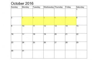 october 3-7-2016 food holidays