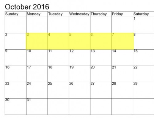 Upcoming Food Holidays | October 3 – 7, 2016