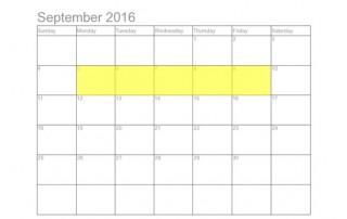 September 5-9 Food Holidays