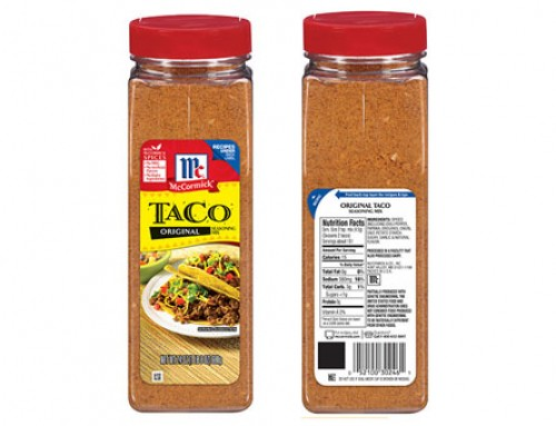 McCormick Voluntarily Recalls Original Taco Seasoning Mix