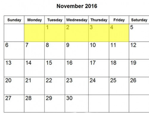 Upcoming Food Holidays | Oct 31 – Nov 4, 2016