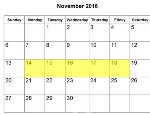 Upcoming Food Holidays | November 14-18, 2016
