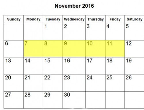 Upcoming Food Holidays | November 7-11, 2016