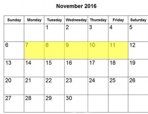 Upcoming Food Holidays | November 7-11, 2016