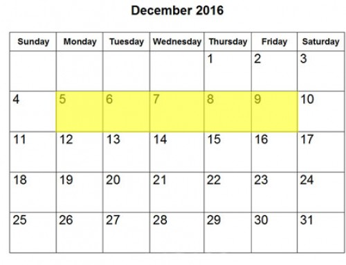 Upcoming Food Holidays | December 5-9, 2016