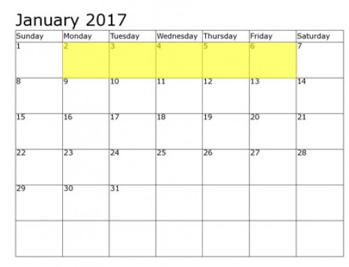 Upcoming Food Holidays | January 2-6, 2017