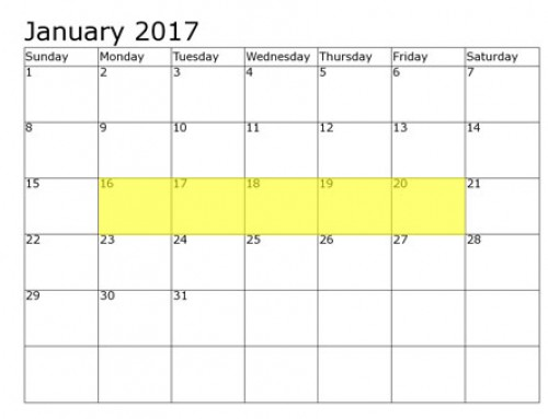 Upcoming Food Holidays | January 16-20, 2017