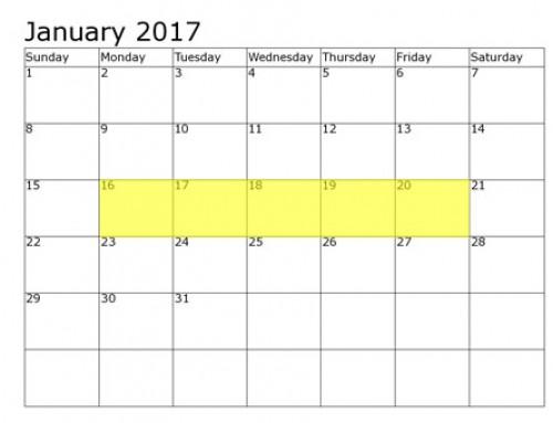 Upcoming Food Holidays | January 16-20, 2017