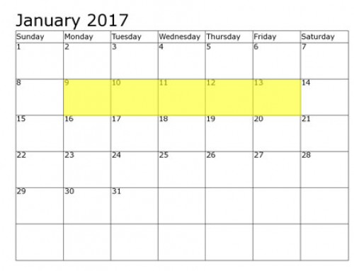 Upcoming Food Holidays | January 9-13, 2017
