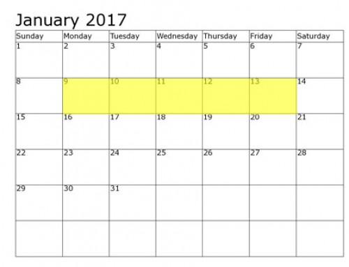Upcoming Food Holidays | January 9-13, 2017