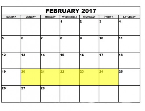 Upcoming Food Holidays | February 20 – 24, 2017