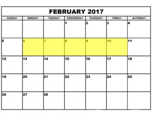 Upcoming Food Holidays | February 6 – 10, 2017