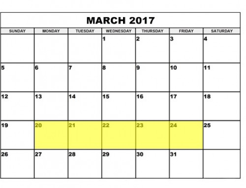 Upcoming Food Holidays | March 20 – 24, 2017