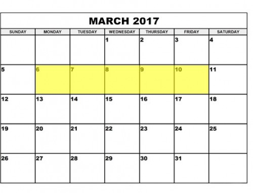 Upcoming Food Holidays | March 6 – 10, 2017
