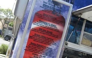food truck menu board