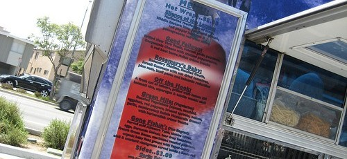 food truck menu board