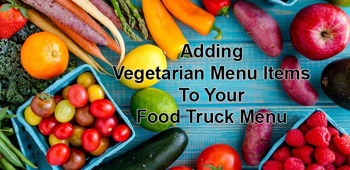 vegetarian menu items