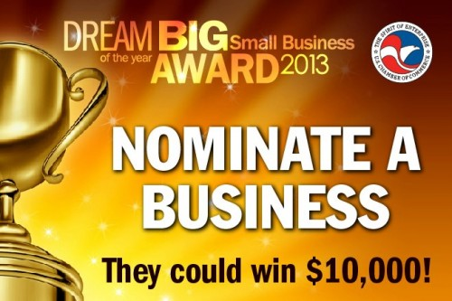 2013 DREAM BIG Small Business of the Year Award