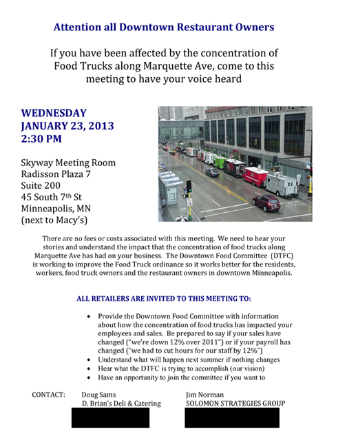 Anti Food Truck Meeting Flyer