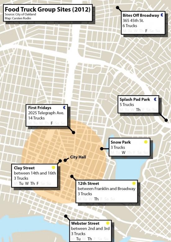 Oakland Food Truck Map
