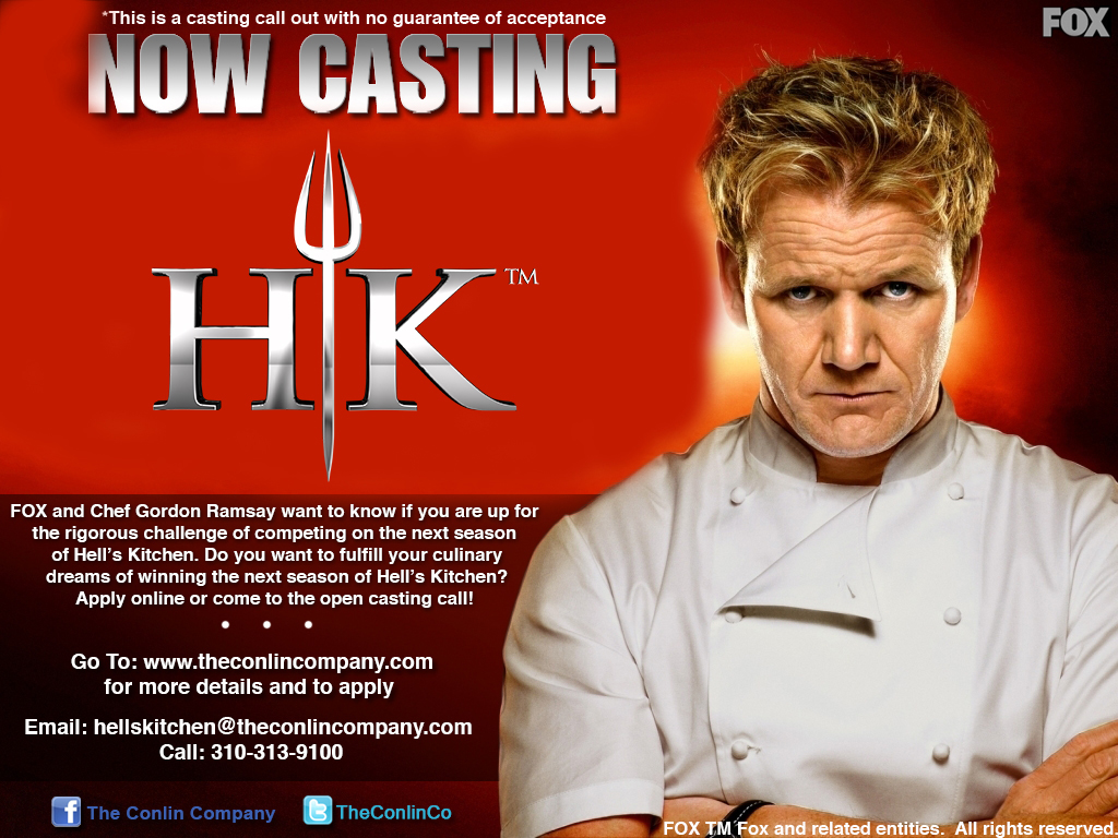 Hell's Kitchen Casting Flier