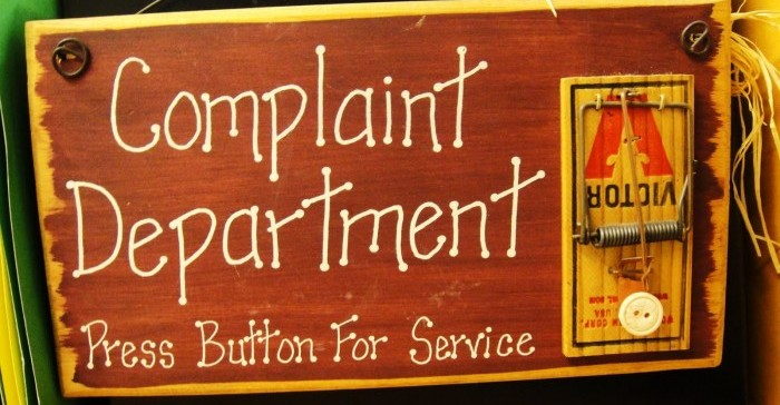 complain at work