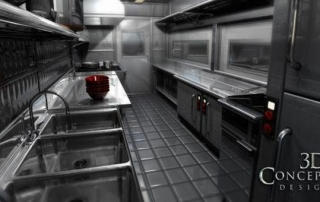 food truck kitchen in 3d