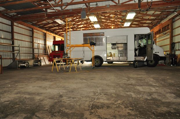 Food truck repair shop