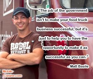 Matt Basile Food Truck Quote