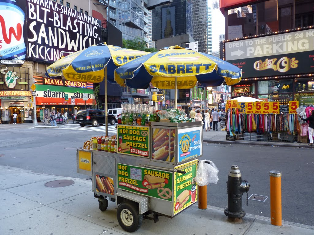 Halal Hot Dog Stand New York