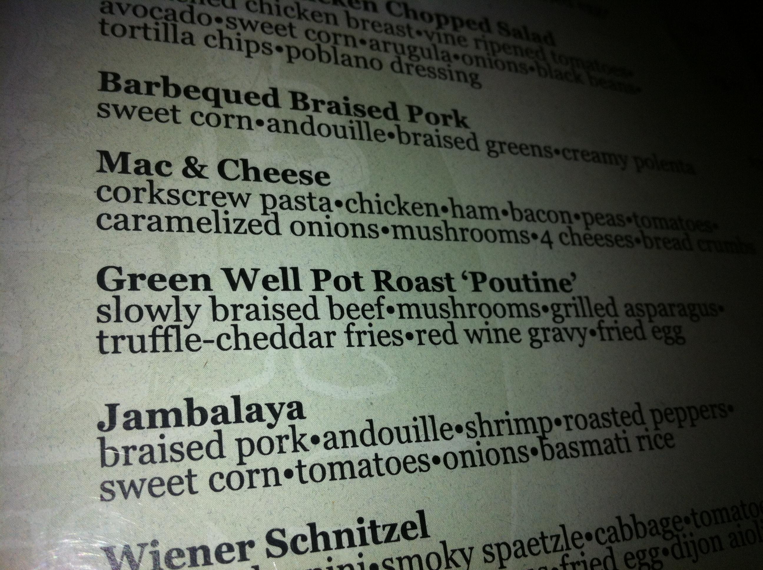 food truck menu descriptions