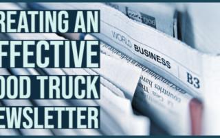food truck newsletter