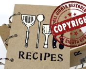 copyrighting recipes