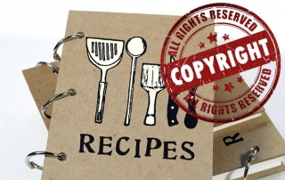 copyrighting recipes