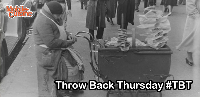 TBT NYC Pretzel Cart 1938