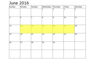 June 13-17 Food Holidays