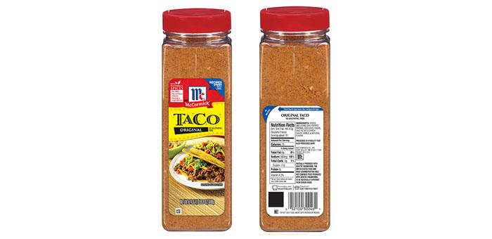 Mccormick Voluntarily Recalls Original Taco Seasoning Mix