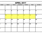 April 10-14 2017 Food Holidays