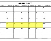 April 17-21 2017 Food Holidays