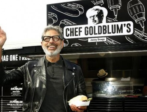 Jeff Goldblum Sells Sausages From Food Truck Down Under