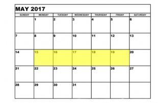 May 15-19 2017