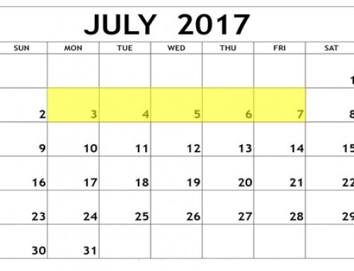 Upcoming Food Holidays: July 3 – 7, 2017