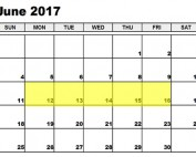 Jun 12-16 2017 Food Holidays