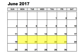 June 19-23 2017 Food Holidays