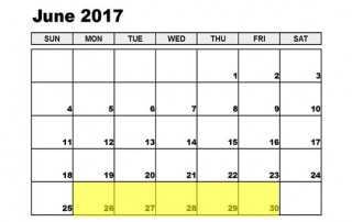 Jun 26-30 2017 Food Holidays