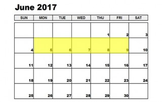 Jun 5-9 2017 Food Holidays