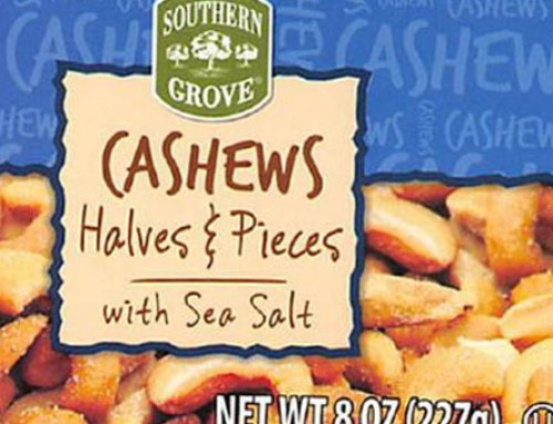 Southern Grove Cashews Recalled For Presence Of Glass Shards