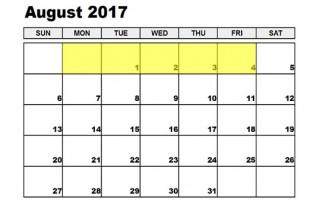 August 31-4 2017 Food Holidays