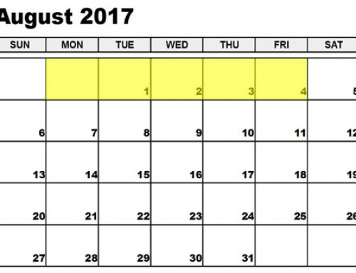 Upcoming Food Holidays: July 31 – Aug 4, 2017
