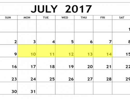 Upcoming Food Holidays: July 10 – 14, 2017